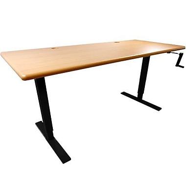 iMovR Ellure Height Adjustable Standing Desk; Hayward Cherry / Black