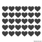 Wallums Wall Decor Hearts Desire Wall Decal; Chocolate Brown
