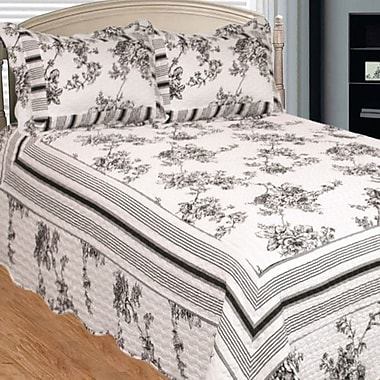 Patch Magic Past and Present 3 Piece Quilt Set; Queen