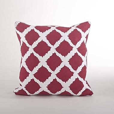 Saro Corsica Ikat Cotton Throw Pillow; Rouge