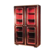 French Heritage Ferault 75'' Standard Bookcase; Cherry / Burgundy