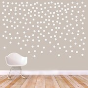SweetumsWallDecals Confetti Dots Circle Wall Decal; White