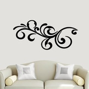 SweetumsWallDecals Decorative Flourish Scroll Wall Decal; Black