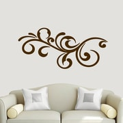 SweetumsWallDecals Decorative Flourish Scroll Wall Decal; Brown