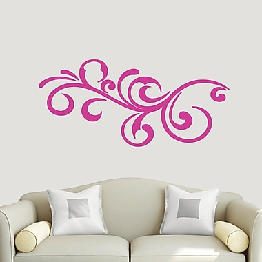 SweetumsWallDecals Decorative Flourish Scroll Wall Decal; Hot Pink