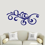 SweetumsWallDecals Decorative Flourish Scroll Wall Decal; Navy