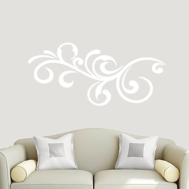 SweetumsWallDecals Decorative Flourish Scroll Wall Decal; White