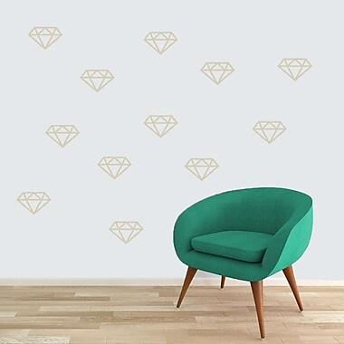 SweetumsWallDecals Diamonds Wall Decal; Beige