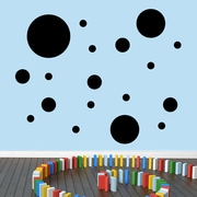 SweetumsWallDecals Dots Pack Wall Decal; Black