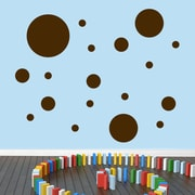 SweetumsWallDecals Dots Pack Wall Decal; Brown