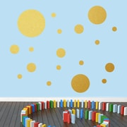 SweetumsWallDecals Dots Pack Wall Decal; Gold