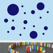 SweetumsWallDecals Dots Pack Wall Decal; Navy
