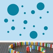 SweetumsWallDecals Dots Pack Wall Decal; Teal