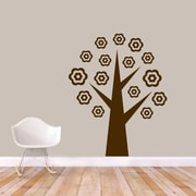 SweetumsWallDecals Flower Tree Wall Decal; Brown