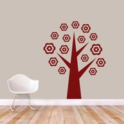 SweetumsWallDecals Flower Tree Wall Decal; Cranberry