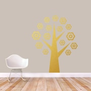 SweetumsWallDecals Flower Tree Wall Decal; Gold