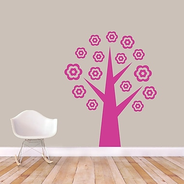 SweetumsWallDecals Flower Tree Wall Decal; Hot Pink