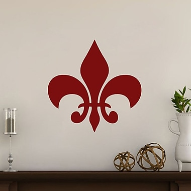 SweetumsWallDecals Fleur De Lis Wall Decal; Cranberry