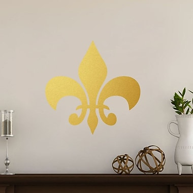 SweetumsWallDecals Fleur De Lis Wall Decal; Gold