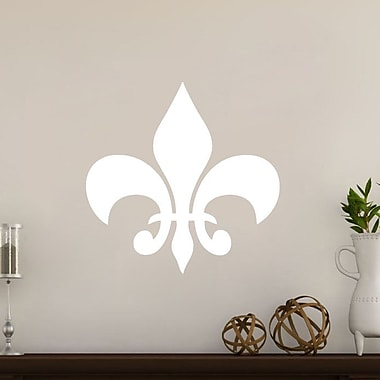 SweetumsWallDecals Fleur De Lis Wall Decal; White