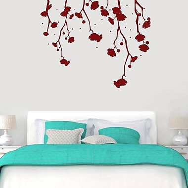 SweetumsWallDecals Hanging Flowers Wall Decal; Cranberry