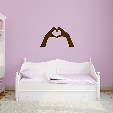 SweetumsWallDecals Heart Hands Wall Decal; Brown