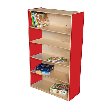 Wood Designs 60'' Standard Bookcase; Strawberry Red