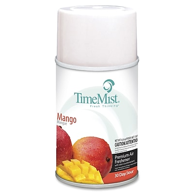 TimeMist® Metered Aerosol Fragrance Dispenser Refills, 6.6 oz, Mango, 12/Carton (1042810)