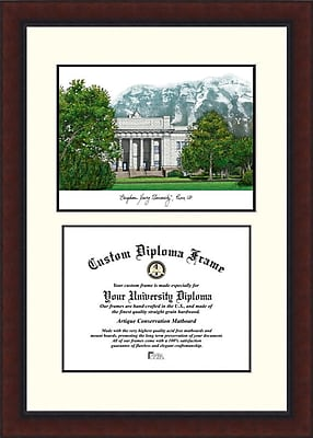 Campus Images NCAA Brigham Young University Legacy Scholar Diploma Picture Frame