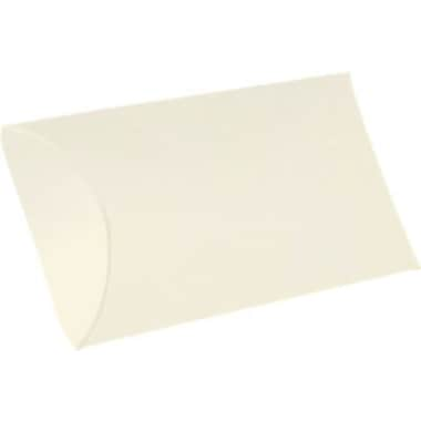 LUX Medium Pillow Boxes (2 1/2 x 7/8 x 4) 50/Box, Natural Linen (MPB-NLI-50)