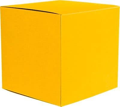 LUX Small Cube Gift Boxes (2 5/32 x 2 1/8 x 2 5/32) 50/Box, Sunflower (SCUBE-12-50)