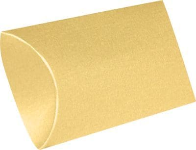 LUX Medium Pillow Boxes (2 1/2 x 7/8 x 4) 10/Box, Gold Metallic (MPB-07-10)