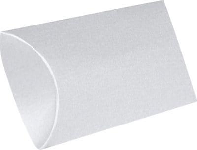 LUX Small Pillow Boxes (2 x 3/4 x 3) 1000/Box, Silver Metallic (SPB-06-1M)