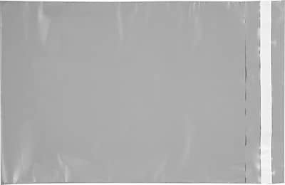 LUX 9 x 12 Heavy Duty Plastic Mailers 500/Box, Gray Plastic (HD-E055-500)