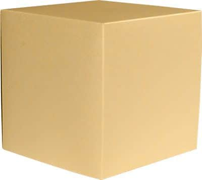 LUX Small Cube Gift Boxes (2 5/32 x 2 1/8 x 2 5/32) 250/Box, Blonde Metallic (SCUBE-M07-250)