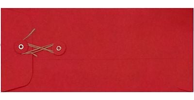 LUX #10 Button & String Envelopes (4 1/8 x 9 1/2) 500/Box, Ruby Red (LUX-10BS-18-500)