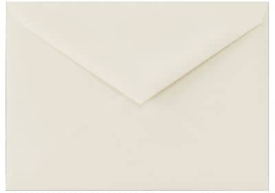 LUX 4 BAR Envelopes (3 5/8 x 5 1/8) 50/Box, 100% Cotton - Natural White (4BAR-SN-50)