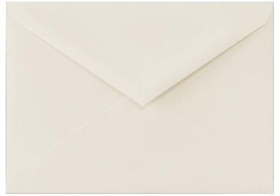 LUX 5 1/2 BAR Envelopes (4 3/8 x 5 3/4) 50/Box, 100% Cotton - Natural White (512BAR-SN-50)