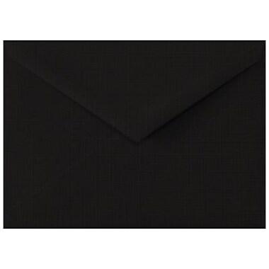 LUX Lee BAR Envelopes (5 1/4 x 7 1/4) 50/Box, Black Linen (LEEBAR-BLI-50)