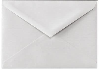 LUX Lee BAR Envelopes (5 1/4 x 7 1/4) 50/Box, White Linen (LEEBAR-WLI-50)