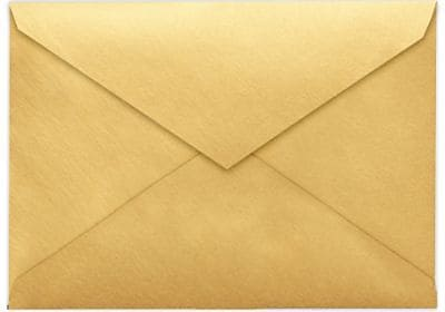 LUX 4 BAR Envelopes (3 5/8 x 5 1/8) 500/Box, Gold Metallic (4BAR-07-500)
