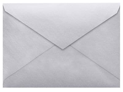 LUX 5 1/2 BAR Envelopes (4 3/8 x 5 3/4) 50/Box, Silver Metallic (512BAR-06-50)
