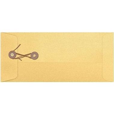 LUX #10 Button & String Envelopes (4 1/8 x 9 1/2) 500/Box, Gold Metallic (10BS-07-500)