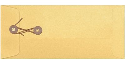 LUX #10 Button & String Envelopes (4 1/8 x 9 1/2) 50/Box, Gold Metallic (10BS-07-50)