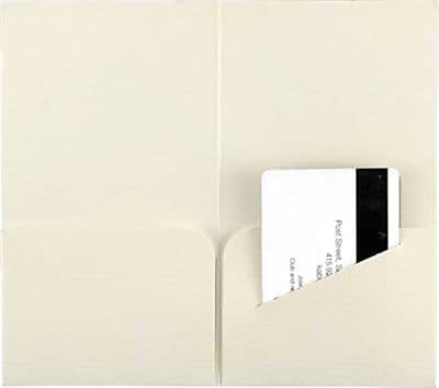 "LUX® Key & Gift Card Mini Folders, 3 3/8"" x 6"", Natural Linen, 500 Qty (KHF-NLI-500)"