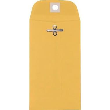 LUX #5 1/2 Coin Clasp Envelopes (3 1/8 x 5 1/2) 50/Box, 32lb. Golden Kraft (WS-5480-50)