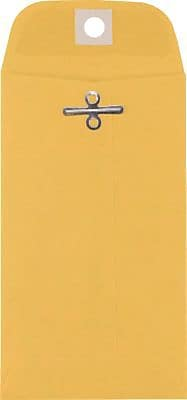 LUX® #5 1/2 Coin Clasp Envelopes, 3 1/8