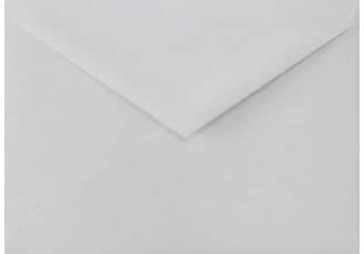 LUX Lee BAR Envelopes (5 1/4 x 7 1/4) 50/Box, 100% Cotton - Gray (LEEBAR-SG-50)