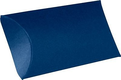 LUX Medium Pillow Boxes (2 1/2 x 7/8 x 4) 1000/Box, Navy (LUX-MPB-103-1M)