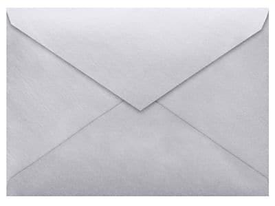 LUX Lee BAR Envelopes (5 1/4 x 7 1/4) 50/Box, Silver Metallic (LEEBAR-06-50)